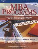 MBA Programs 2003