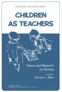Pdf Children as Teachers Telecharger