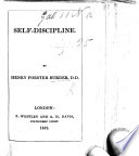 Self Discipline   Extracted from    Lectures on the Essentials of Religion