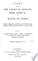 cases decided in the court of session teind court   c  and house of lords  Book