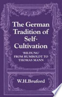 The German Tradition of Self Cultivation