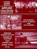 Applied Calculus, Student Answers