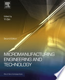 Micromanufacturing Engineering And Technology Book PDF