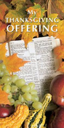 Thanksgiving Enter Into His Gates With Thanksgiving Offering Envelope 2008 Package Of 50