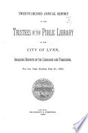 Annual Report Of The Trustees Of Public Library Of The City Of Lynn For The Year Ending
