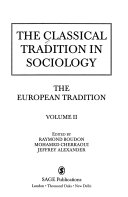 The classical tradition in sociology: the European tradition