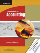 Cambridge IGCSE Accounting Student's Book