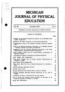 Michigan Journal of Physical Education