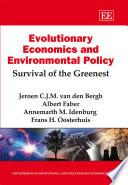 Evolutionary Economics and Environmental Policy