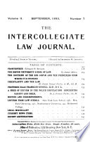 The Intercollegiate Law Journal