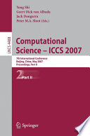 Computational Science - ICCS 2007