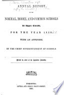 Report of the Minister of Education     Book
