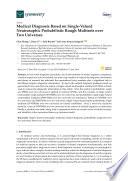 Medical Diagnosis Based on Single-Valued Neutrosophic Probabilistic Rough Multisets over Two Universes
