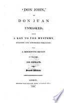 Don John Or Don Juan Unmasked Book