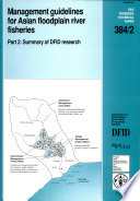 Management Guidelines For Asian Floodplain River Fisheries Summary Of Dfid Research Book PDF