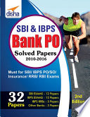 """""""SBI & IBPS Bank PO Solved Papers 32 papers 2nd Edition"""" by Disha Experts"""