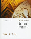 Cover of Introduction to Business Statistics