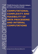 Computational Complexity And Feasibility Of Data Processing And Interval Computations Book PDF