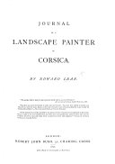 Journal of a Landscape Painter in Corsica