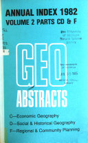 Geographical Abstracts Book