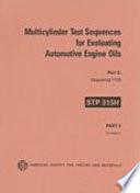 Multicylinder Test Sequences for Evaluating Automotive Engine Oils