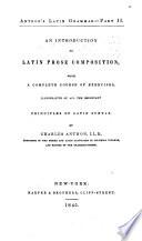 Anthon s Latin Grammar