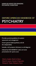 Oxford American Handbook of Psychiatry