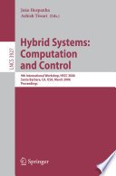 Hybrid Systems  Computation and Control Book