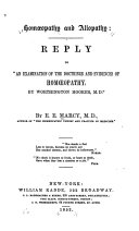Hom  opathy and Allopathy