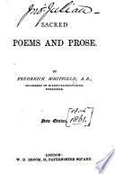 Sacred Poems And Prose New Edition Few Ms Notes By John Julian