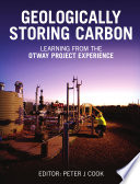 Geologically Storing Carbon Book