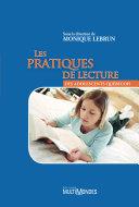 Les pratiques de lecture des adolescents québécois
