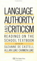 Language, Authority, and Criticism: Readings on the School ...
