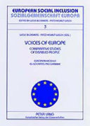 Voices of Europe  Comparative Studies of Disabled People  Stimmen Europas  Vergleichsstudien Von Selbsteinschaetzungen Behinderter Menschen