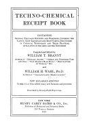 Techno chemical Receipt Book