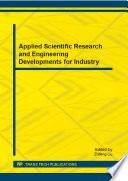 Applied Scientific Research and Engineering Developments for Industry Book