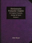 Dictionnaire Fran?aise-Anglais