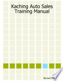 Kaching Auto Sales Training Manual Book