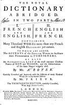 Royal Dictionary, Abridged ...