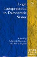 Legal Interpretation in Democratic States