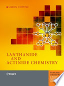 Lanthanide And Actinide Chemistry Book PDF