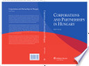 Corporations and Partnerships in Hungary