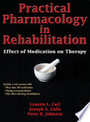 Practical Pharmacology in Rehabilitation