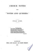 Choice Notes From Notes And Queries