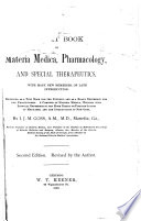 A Text Book of Materia Medica, Pharmacology, and Special Therapeutics