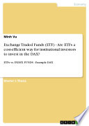 Exchange Traded Funds  ETF    Are ETFs a cost efficient way for institutional investors to invest in the DAX