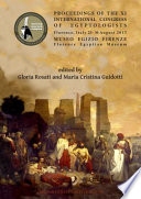 Proceedings of the XI International Congress of Egyptologists  Florence  Italy 23 30 August 2015