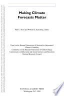 Making Climate Forecasts Matter Book PDF