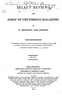 Select Reviews of Literature  and Spirit of Foreign Magazines