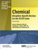 Chemical Discipline specific Review for the FE EIT Exam Book